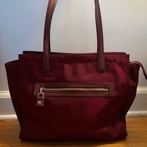 Michael Kors Large Janie Tote Plum with long strap